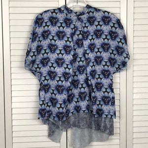ACNE | Blue Short Sleeve Flowy Top